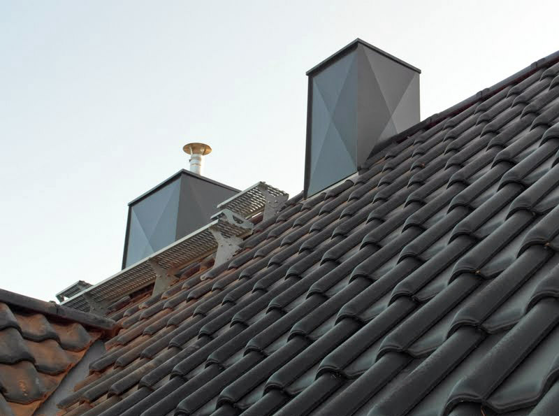 Steildacheindeckung mit Dachziegeln