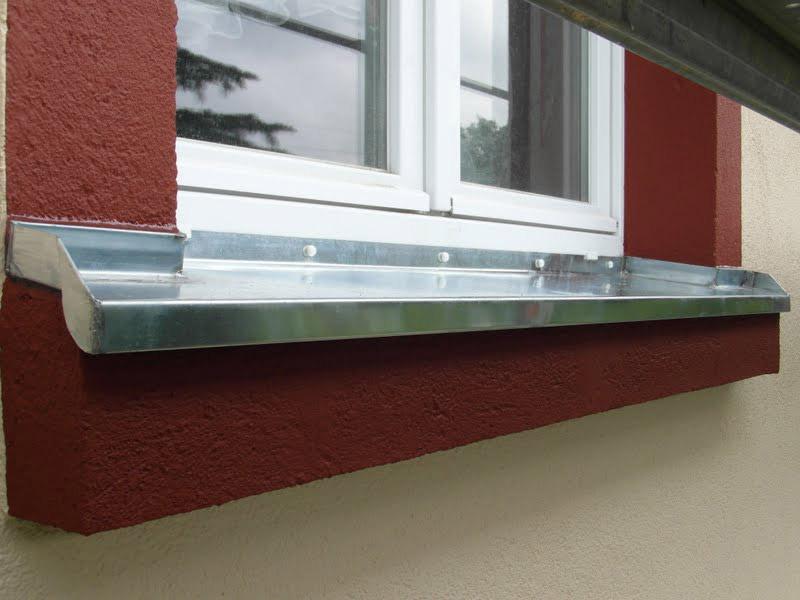 Fensterbank aus Titanzink
